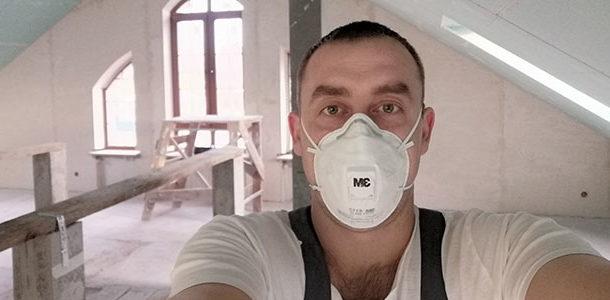 Ремонт в частном доме, подготовка стен и потолков под декоративную штукатурку.